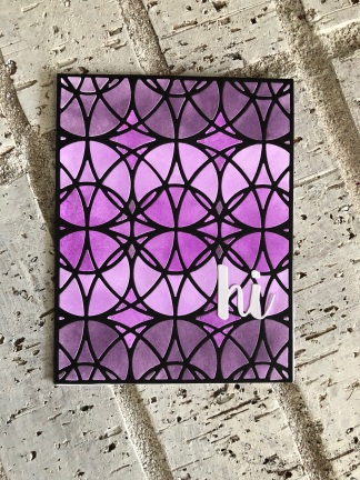 C.P. Stained Glass Cover Die with Purple/pink ink black